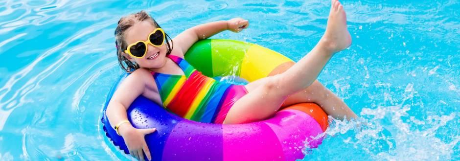 Little girl in pool at Los Sueños Resort Beach Club Costa Rica