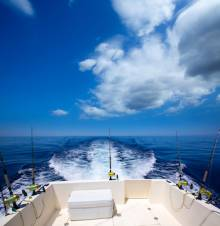 sport fishing boat stern