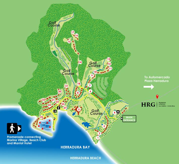 Costa Rica Luxury Resort, Los Suenos Map of Facilities | HRG ... on la costa golf course map, golf in china map, golf in bermuda map, golf in spain map, golf in ireland map, golf in liberia costa rica, golf in jamaica map, golf in guanacaste costa rica, golf courses costa rica map, golf in scotland map,